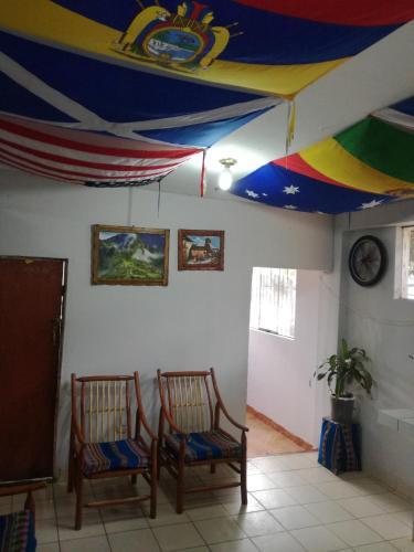 The lobby or reception area at Hospedaje ARANIBAR