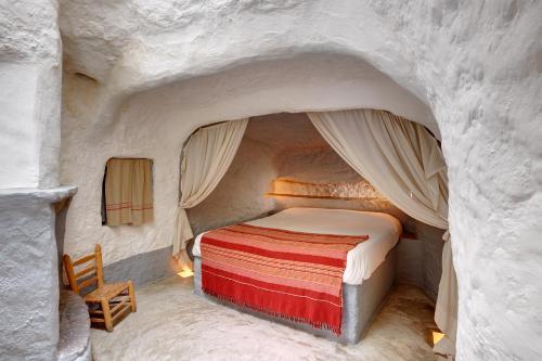 Cama o camas de una habitación en Cueva Las Yeseras