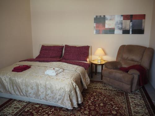 Postel nebo postele na pokoji v ubytování Apartmán Kamila