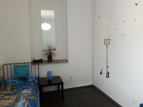 Кровать или кровати в номере Apartments U Vahy
