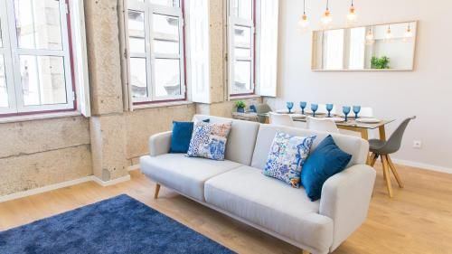A seating area at Praça 44 - Boutique Apartments