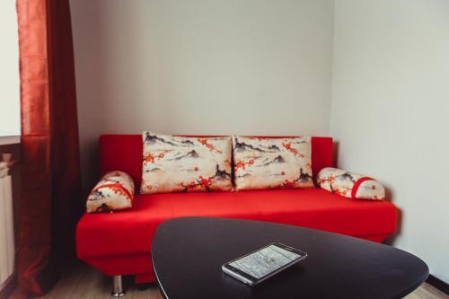 """Кровать или кровати в номере Mini studiya """"Istrum"""""""