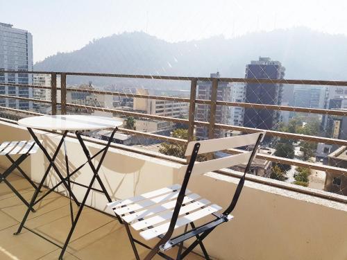 Un balcón o terraza de DSP Apart Nueva Providencia 1372