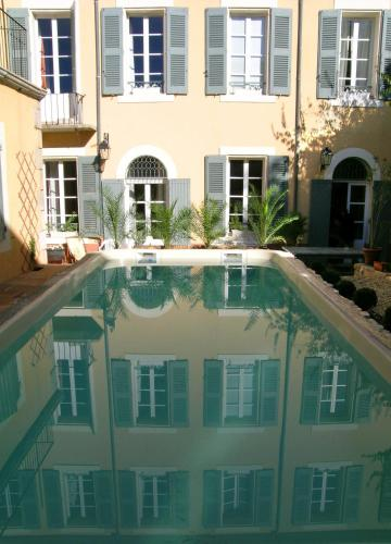 The swimming pool at or near Le Couvent