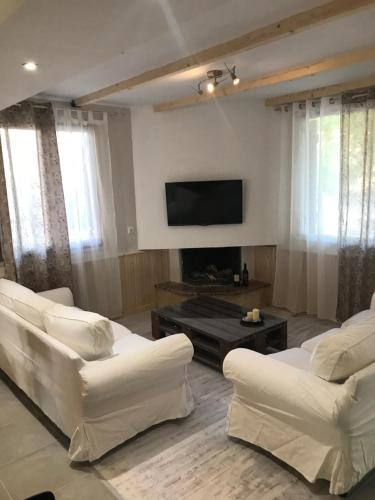 A television and/or entertainment center at Stathis Home