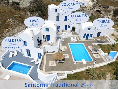 The floor plan of Santorini Traditional Suites