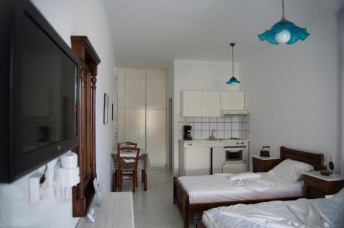 טלויזיה ו/או מרכז בידור ב-Erato Apartments