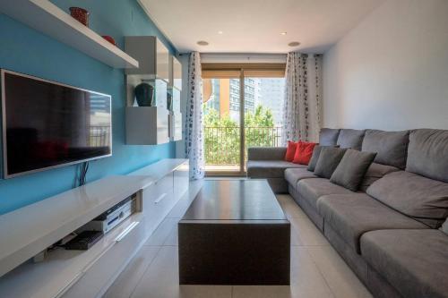 A seating area at Apartamento Moderno Diagonal Mar