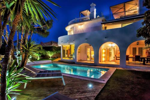 The swimming pool at or near Beautiful exclusive spacious 5*villa with swimming pool
