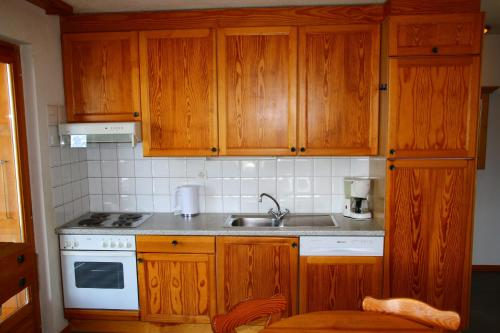 Küche/Küchenzeile in der Unterkunft Résidence Balcons du Soleil
