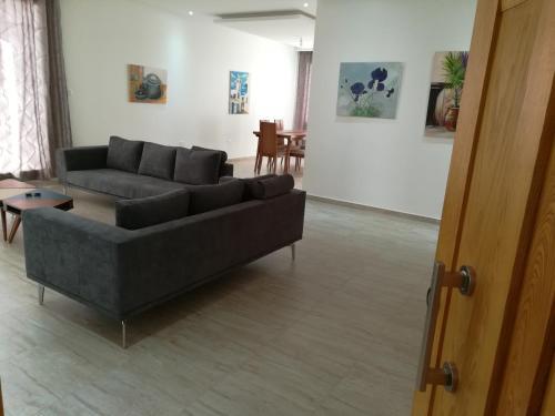 Coin salon dans l'établissement Espadon De Mahdia - Etage de Villa