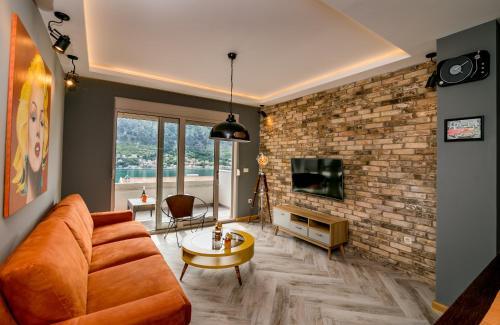 אזור ישיבה ב-Apartments Magic Sea View