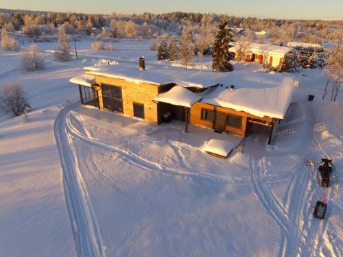Aurora Studio Överby during the winter