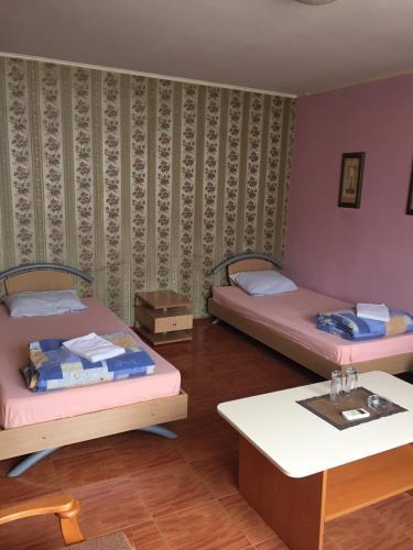 Postelja oz. postelje v sobi nastanitve Hotel Aleksandria