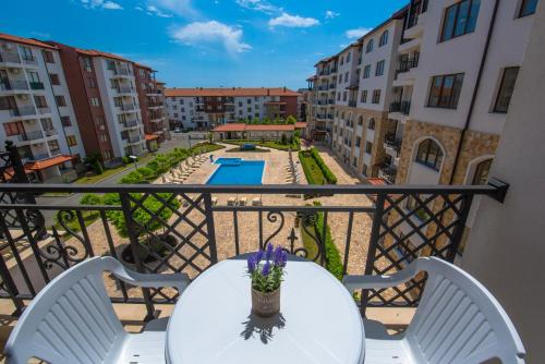 A view of the pool at Apollon Apartments or nearby