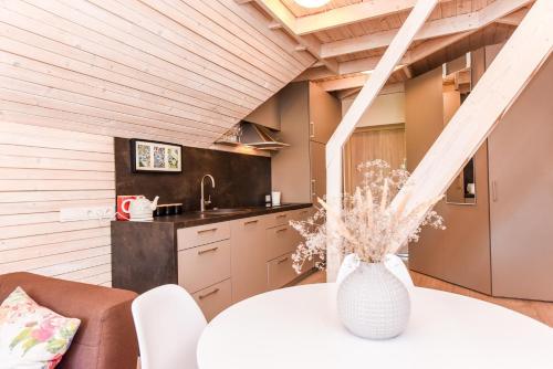 Köök või kööginurk majutusasutuses Green House Apartment