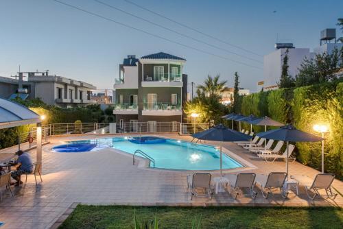 Вид на бассейн в Dimamiel Malia Inn или окрестностях