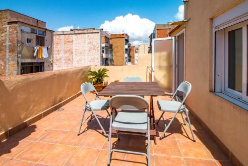 A balcony or terrace at Apartamento Amposta