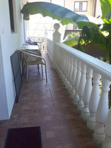 A balcony or terrace at Guest house Atlantik