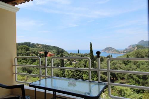 A balcony or terrace at Avra Sunset Sea View Liapades