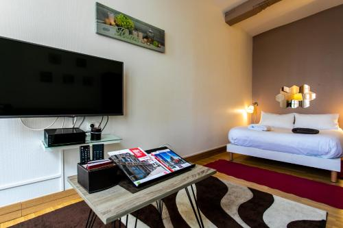 A television and/or entertainment center at Noella's Suite