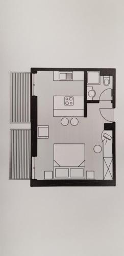Načrt razporeditve prostorov v nastanitvi Apartments AD Radenci