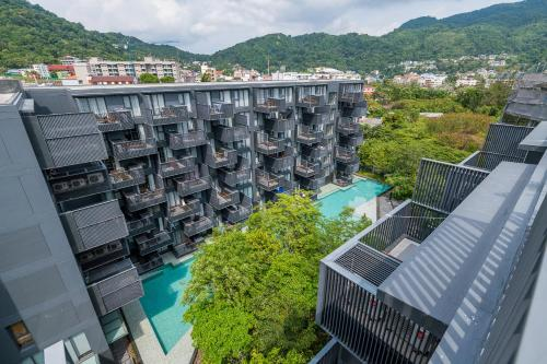 A bird's-eye view of The Deck Patong Condo by Joy