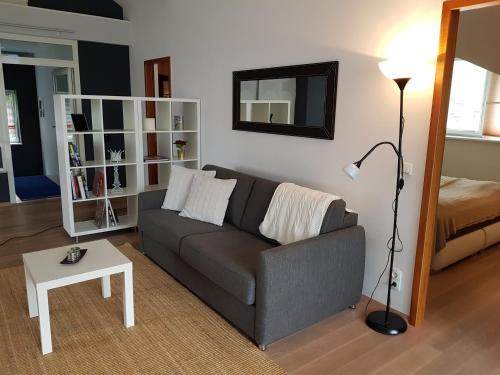 Ein Sitzbereich in der Unterkunft Villa Papagena