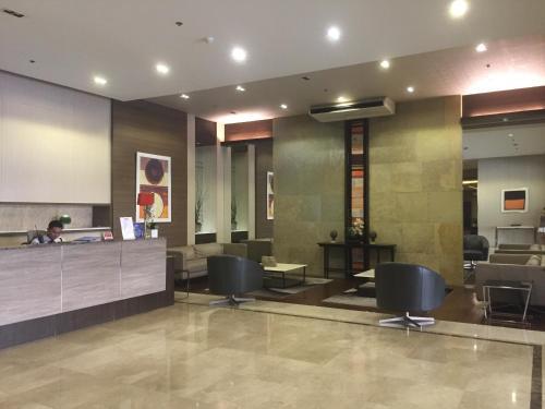 The lobby or reception area at Condo-unit near Marikina and Pasig