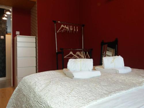Postel nebo postele na pokoji v ubytování Apartament Wakacyjny u Adrianny