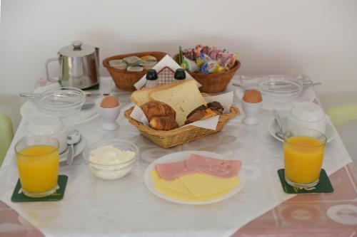 Επιλογές πρωινού για τους επισκέπτες του Trianta Apartments