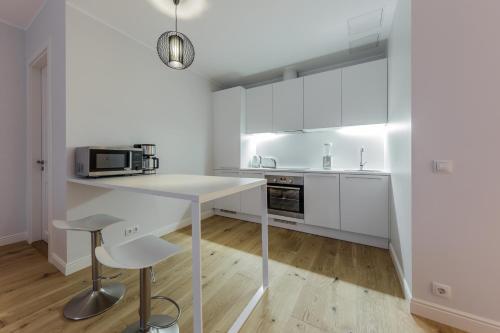 Köök või kööginurk majutusasutuses Pronksi 3 Apartments