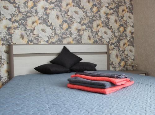 Кровать или кровати в номере Comfortable apartments on Anokhina