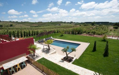 A view of the pool at Quinta Roninho or nearby