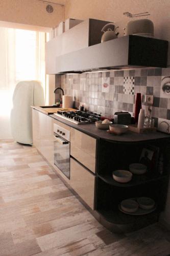 Köök või kööginurk majutusasutuses Luxury rooms Porta Romana
