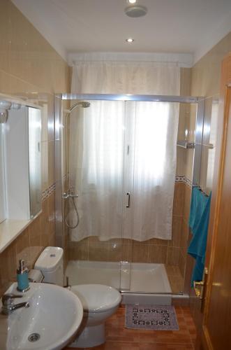 Un baño de Apartamentos Sarmiento