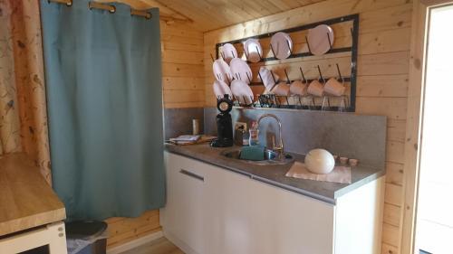 Küche/Küchenzeile in der Unterkunft Relax-Huetten-Gröden