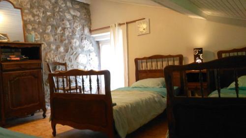 Uma área de estar em Domaine Des Cruz