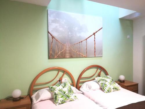 A bed or beds in a room at Casa Castillo de la Estrella