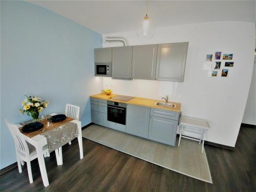 Kuchyňa alebo kuchynka v ubytovaní Apartamenty Retmana