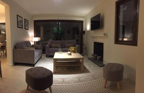Zona de estar de Casa de Alto Estandar en Las Condes