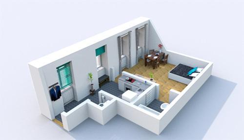 El plano del piso de Viennese Prater Residence