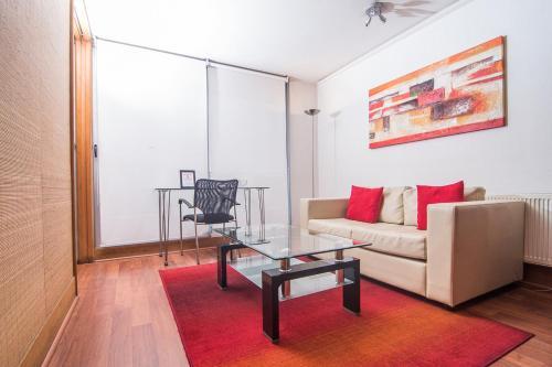 Zona de estar de Austral Suites