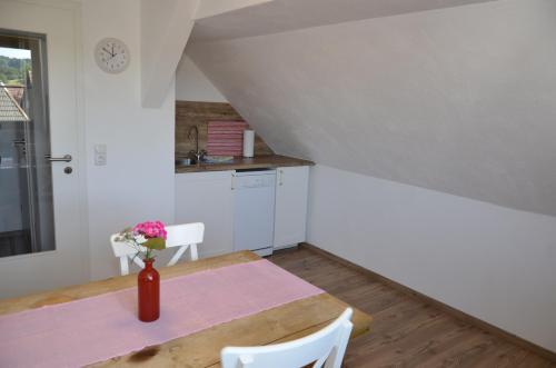 Küche/Küchenzeile in der Unterkunft Ferienwohnung Lohra