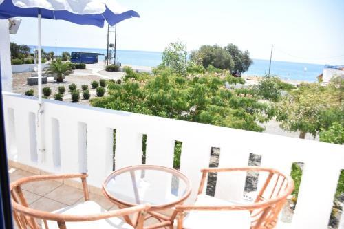 מרפסת או טרסה ב-Kiotari Beach Apartments