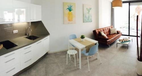 A kitchen or kitchenette at Apartment Carmen Sunrise, Los Cristianos