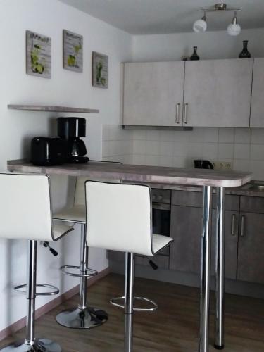Küche/Küchenzeile in der Unterkunft Apartments Fudel