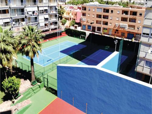 A view of the pool at One-Bedroom Apartment in La Pobla de Farnals or nearby