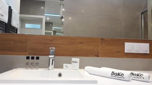 A bathroom at BAKO Apartments