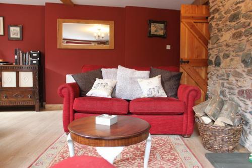 O zonă de relaxare la Dovedale apartment, Glenridding